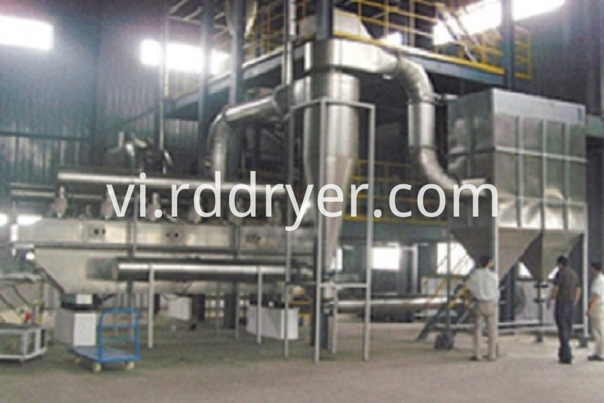 High Drying Efficiency Vibrating Fluid Bed Drying Machine