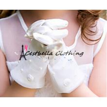 Lace Brauthandschuhe für kleine Mädchen Nette Blumenmädchen Handschuhe Handgemachte Hochzeit Handschuhe für Kinder