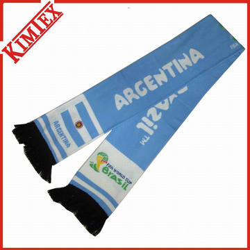 Fashion Jacquard Fans Rally Football Scarf with Spandex