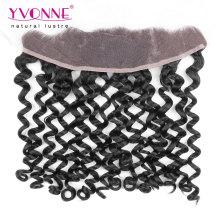 Italian Curly Peruvian Virgin Hair Lace Frontal