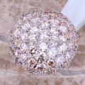 2018 designer de platina anéis de casamento anéis de casamento multicolorful anel de pedra