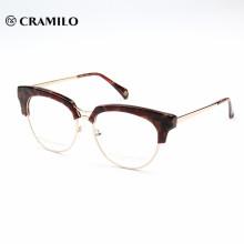 Vidrios ópticos al por mayor del marco de encargo de las gafas del acetato del modelo nuevo de China para el mens