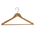 Venta caliente perchas de madera percha de traje de madera personalizado
