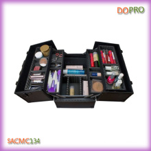All Black Color Hard Side Aluminum Cosmetic Case (SACMC134)