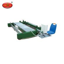 Rubber granule ground paver machine