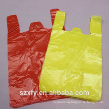 Custom PE T-Shirt Plastic Packing Bag With handle