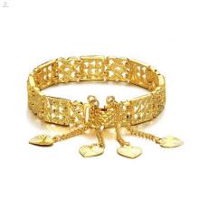 2018 New arrival products fashionable gift Oco feminino banhado a ouro pulseira