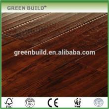 Laca UV teñida cepillo de madera de teca suelo de ingeniería