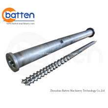 KraussMaffei 114-32 Parallel Twin Screw and Barrel