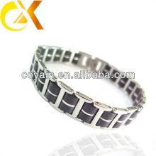 Охладьте ювелирные изделия людей accesorries 316 черный браслет нержавеющей стали