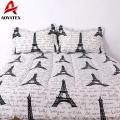 Stock fabric cheap price microfiber bedding set,pigment printed bedding set