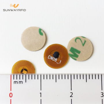8 mm ronde 13,56 mhz NTAG213 micro nfc-tag