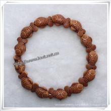 Natural Colour Little Fish Beads Bracelets (IO-aj045)