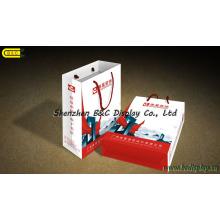 Sac en papier, papier revêtu, boîte en papier chromé, conception de coffre cadeau (B & C-I031)