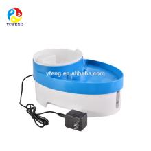 Alta qualidade plástico pet dog bowl interior fonte de água para animais de estimação