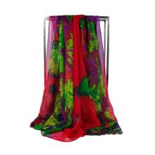 Wholesale 100% Polyester Organza Fabric Cheap Chiffon Scarf