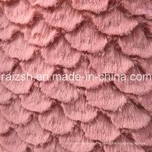 PV Polyester Warp Velvet Plush with Flower Fan Shape Design