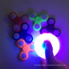 LED Light Flashing Tri Spinner Fidget Toy Plastic EDC Hand Spinner