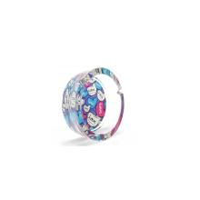 Haonai Custom Printed Clear Ashtray Green,Blue,Purple Glass Ashtray