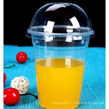 Tasse d'animal familier de boissons froides Disaposable, tasse d'animal familier de 98mm pour le jus, tasse en plastique
