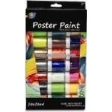 Peinture d'affiche non-toxique 24 couleurs (20ml) pour le dessin des enfants