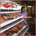 Cage de poulet de couche de volaille avec le système automatique d'alimentation / buveur