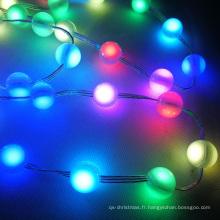 Chaîne de boule de Noël de mini sphère RVB LED