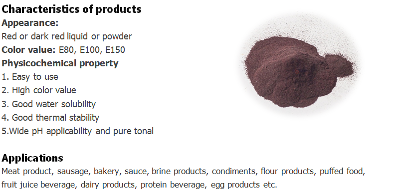 Monascus red pigment for meat