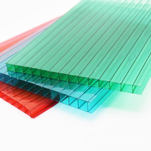 Wholesale high qualify waterproof fire resistant  multi-wall hollow polycarbonate sheet for entertainment venues