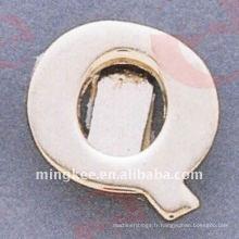 """Accessoires décoratifs du sac à main """"Q"""" de petite lettre (O35-675A-Q)"""