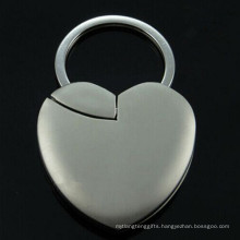 Promotional Laser Engrave Photo Frame Heart Shape Key Chain (F1409)