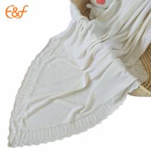 Baby Sleeping Blanket Acrílico com padrões de malha grátis