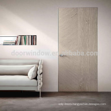 Most popular China factory top quality new design wooden invisible door design with America oak