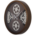 Horloges murales marron de style antique en finition rustique