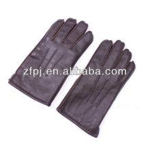 Männer Mode Patent große Hand Leder Handschuhe in braun