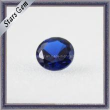 Artificial Bule Redondo Corte Corindón Blue Gemstone Zafiro Beads