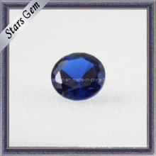 Artificial Bule Round Cut Corundum Blue Gemstone Sapphire Beads