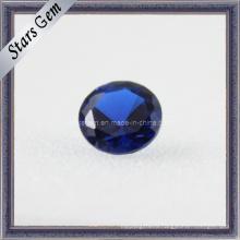 Искусственный Bule Круглый Cut Corundum синий драгоценный камень сапфир бисер