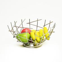 Creative Countertop Iron Household Organizer Vegetable Mesh Bowl Kitchen Storage Metal Wire Fruit Basket