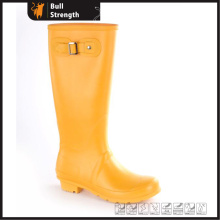 Orange Color fashion Waterproof PVC Boot with Buckle (SN5461)