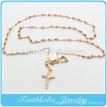 4MM Chapelet Perles Collier De Chapelet Religieux Avec Marie Charme Et Jésus Croix Pour Le Christainity