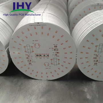 Aluminum PCB Single Layer Round PCB With OSP and White Solder Mask