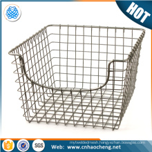 Stainless steel cylinder foods serving basket fries filter tools