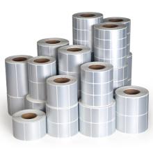 Starke selbstklebende silberne PVC-Etikettenrolle