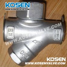 Trampa de vapor termodinámica de acero fundido