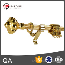 Length 5.8m , Golden , Drapery Curtain Rod