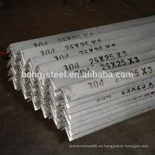 Precio de barra de ángulo de acero inoxidable aisi304 con certificación sgs