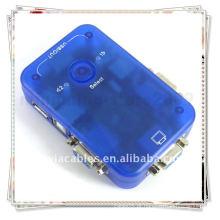 Alta qualidade 2 portas USB 2.0 VGA KVM Switch para dois PCS