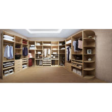 Cloakroom Wooden Clothespress Walk in Wooden Wardrobe Designs