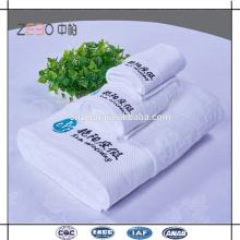 Hotel de 5 estrelas Usado Pure White Toalhas de Bordado Cotton Royal Hotel Toalhas